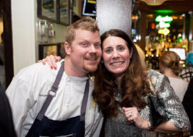 Executive Chef Russel Cook and Liz Lombardo Stark (PR & Marketing Director for GRG)