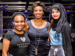 Christine Adley, Darlene Hill (Fox Good Day Chicago and emcee) and Ambreen Maan