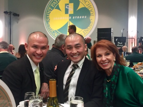 Duc Ho and David Nguyen with Sheryl Dyer