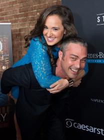 Lucky Showbiz Shelly with Taylor Kinney