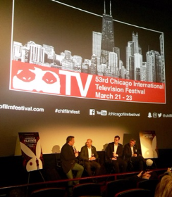 Opening night panel discussion conducted by Richard Roeper