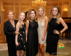 President Award recipient Michelle Karge (center) with daughters Dylan, Devon and MacKenzie Krage and mom Marilyn Passarelli