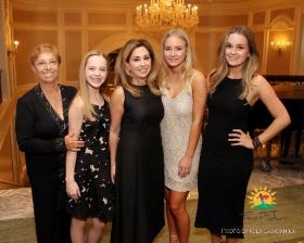 President Award recipient Michelle Karge (center) with daughters Dylan, Devon and MacKenzie Krage and mom Marilyn Passarelli