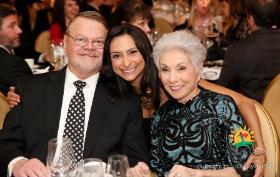 Gregory Hines, emcee Lourdes Duarte and Dr. Sandy Goldberg