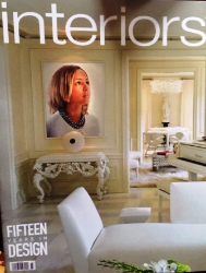John Ansehl designs featured on cover of Interiors Magazine's 15th anniversary issue!