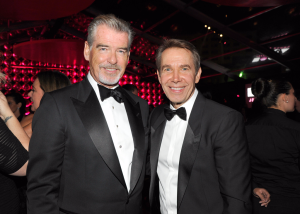 Actor Pierce Brosnan and honoree Jeff Koons