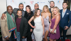 Founder of Midwest Fashion Week Berny Martin (L) and friends