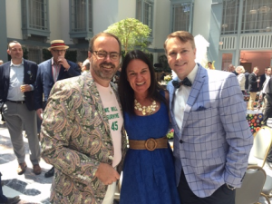 Chicago House CEO Scott Ammarell (L) and friends