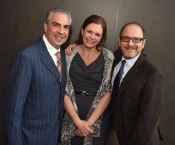 Honorary Chair Paul Lisnek, Porchlight Music Theatre's executive director Jeannie Lukow and honored guest Lonny Price