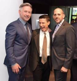 Brad McCormick, Jay Simms and Porchlight Board of Director Bil Ingraham
