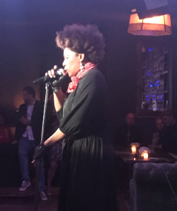 Macy Gray performs at Larry's party