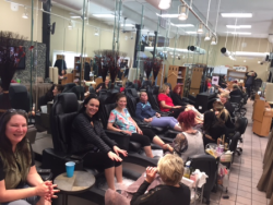 Nurses enjoying the treatments courtesy of Teddie Kossof Salon & Spa