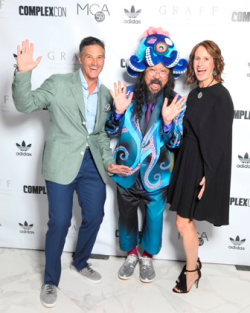Jay and Shawna Owen with Takashi Murakami