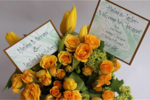 A personal arrangement by A Perfect Event was sent to honorees by Debi Lilly
