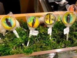Dino eyeball lollipops in the gift shop! LOL!