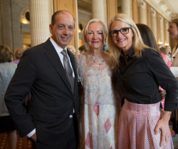 Dr. Larry Goodman (Rush CEO/pres) with wife Michelle Goodman and Mel Robbins