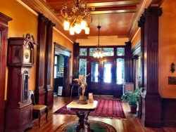 Gorgeous entry to the Al Ringling Mansion in Baraboo, Wisconsin