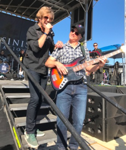 Gary Sinise and his Lt. Dan Band on the beach at the Del