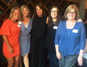C-Strategies' Mika Stambaugh, panelist Amy Carr (Chicago Tribune), Jan Parr (Crain's Chicago Business), C-Strategies'             Becky Carroll, panelist Jennifer Graves (WLS-TV)