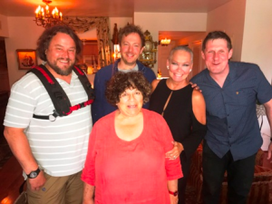 With Miriam and the Wildpictures crews (Jon Gilbert, Mark North and Simon Draper)