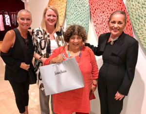 Miriam shopping at Neiman Marcus Michigan Ave. with PR director Tina Koegel and master stylist Cynthia Holbrook