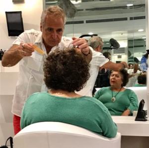 Miriam gets a makeover at Charles Ifergan Salon & Spa at 106 E. Oak Street