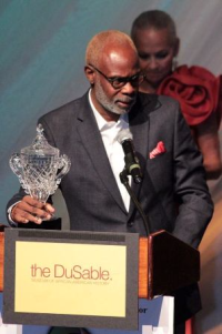 D. Channsin Berry receives the Sidney Poitier Excellence in Performing Arts Award