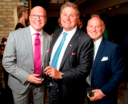 Greg Hyder, Bulgari store manager Raymond Western and Jim Smith