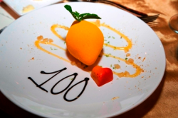 Delicious lemon dessert tribute to the 100th anniversary theme