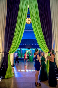 Shedd's historic gallery space and Caribbean Reef dressed for BLU