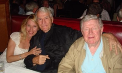Brenda and the late Jack McHugh with his lifelong friend Jimmy O'Brien