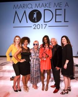Cheryl and Mario Tricoci and friends surround winner Kiara Clark