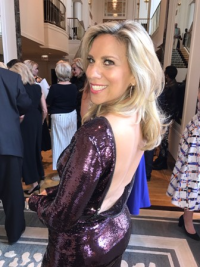 Event co-chair Sharyl Mackey in a sexy Tom Ford number