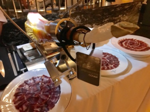 Beautiful carpaccio display at Tatel