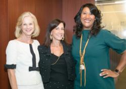 Christie Hefner, Dr. Lauren Streicher and Dorri McWhorter