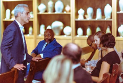 Mayor Emanuel with guests
