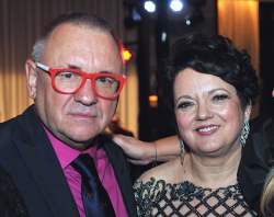 Dr. Kornelia Krol with guest of honor, philanthropist Jerzy Owsiak
