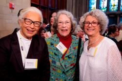 Dr. Barbara Bowman, Nancy Stevenson and Iris Krieg