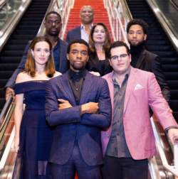 Marshall stars/actors Chadwick Boseman, Marina Squerciati,  Josh Gad,  Sterling K. Brown, producer Paula Wagner, actor Jussie Smollett and director Reginald Hudlin