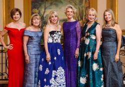 Susan Lenny, Nancy Searle, Mamie Case, Ellen Stirling, Lili Gaubin and Nancy Santi