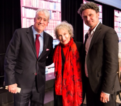 Scott Simon, Margaret Atwood and Dave Eggers