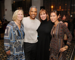 Pierre Lockett, Melinda Jakovich, Frances Renk and friend (L)
