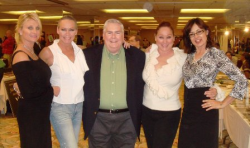 Larry Armstrong with Playboy Playmates Debra McMurray, me, Patti McGuire Connors and Sylvie Garant