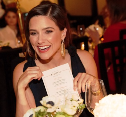 Waldorf Astoria Unforgettable Dinner Series' celeb hostess Sophia Bush.