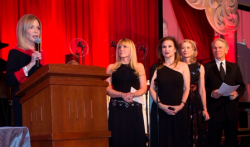 Event co-chairs Cheryl Rhodes-Coleman, Pam Capitanini and Kristine Farra with hosts Mary Ann Childers and Jay Levine.