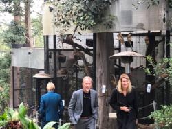 Guests visit Hef's beloved menagerie at LA Playboy Mansion for the final time.