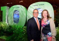 Chicago Flower & Garden Show owner/president/director Tony Abruscato and Navy Pier pres/CEO Marilynn Gardner
