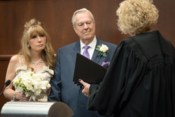 After 40 years of togetherness, Donna LaPietra and Bill Kurtis make it official!