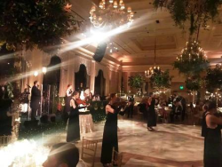 Elegant wedding decor in the Breaker's Venetian Ballroom
