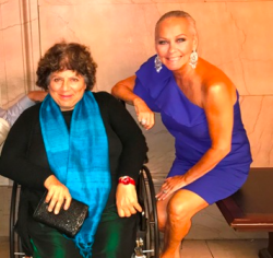 At Art Institute gala with Miriam Margolyes